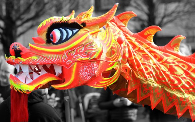 View of a Chinese dragon