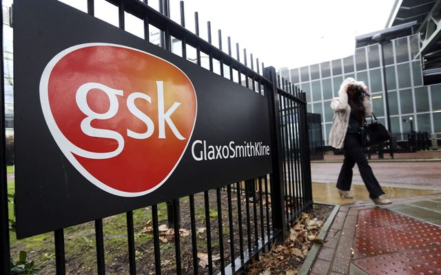 View of GSK's logo