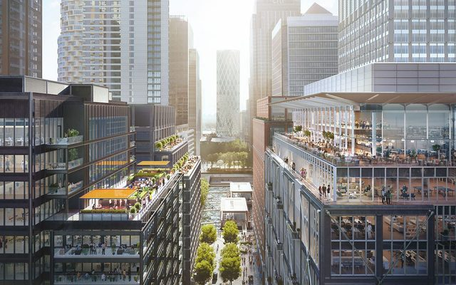 View of how Wood Wharf will look