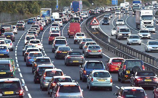 Traffic Jam, Road, Transportation