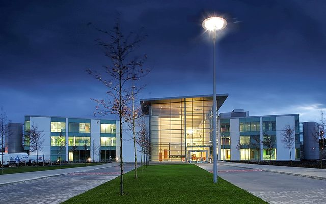 Office Building, Building, Grass