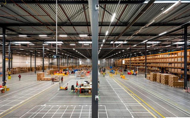 Building, Warehouse, Person