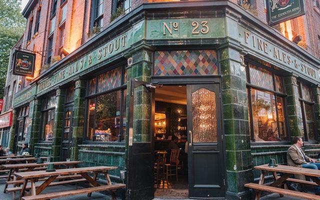 pub, external, doors